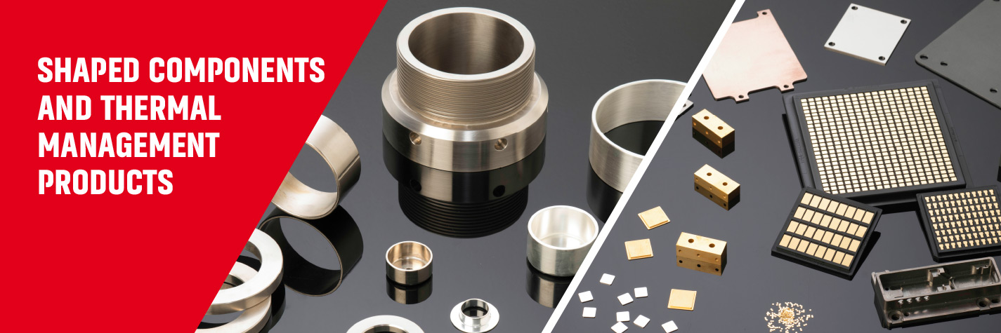 Shaped Components and Thermal Management Products manufactured by AMETEK Wallingford, USA