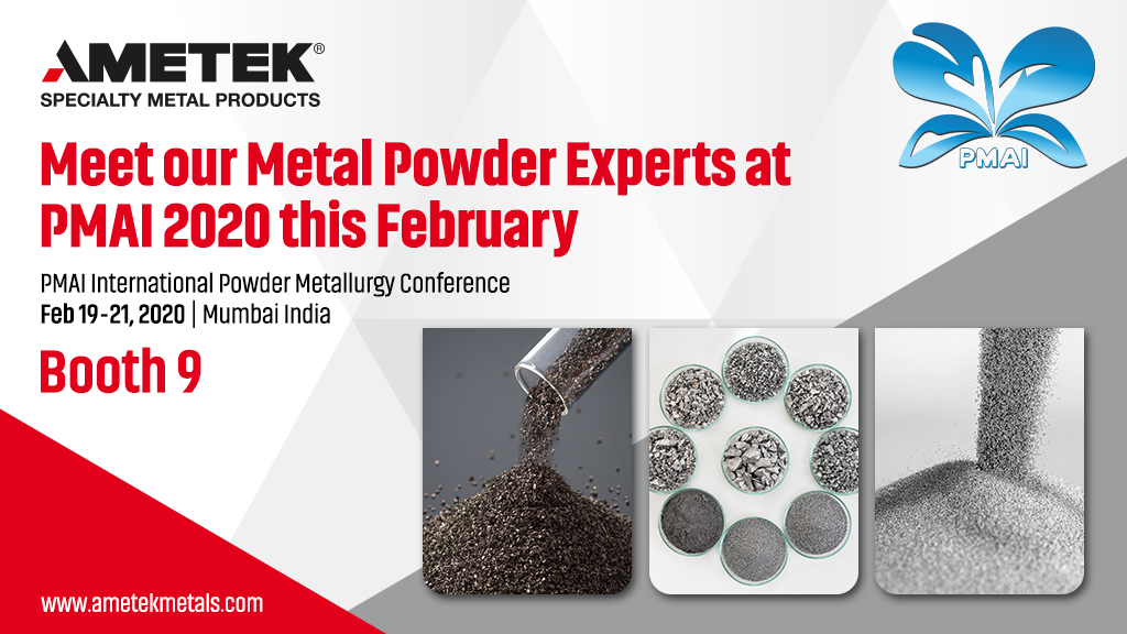 Specialty Metal Powders to be showcased at PM20 International Conference on Powder Metallurgy