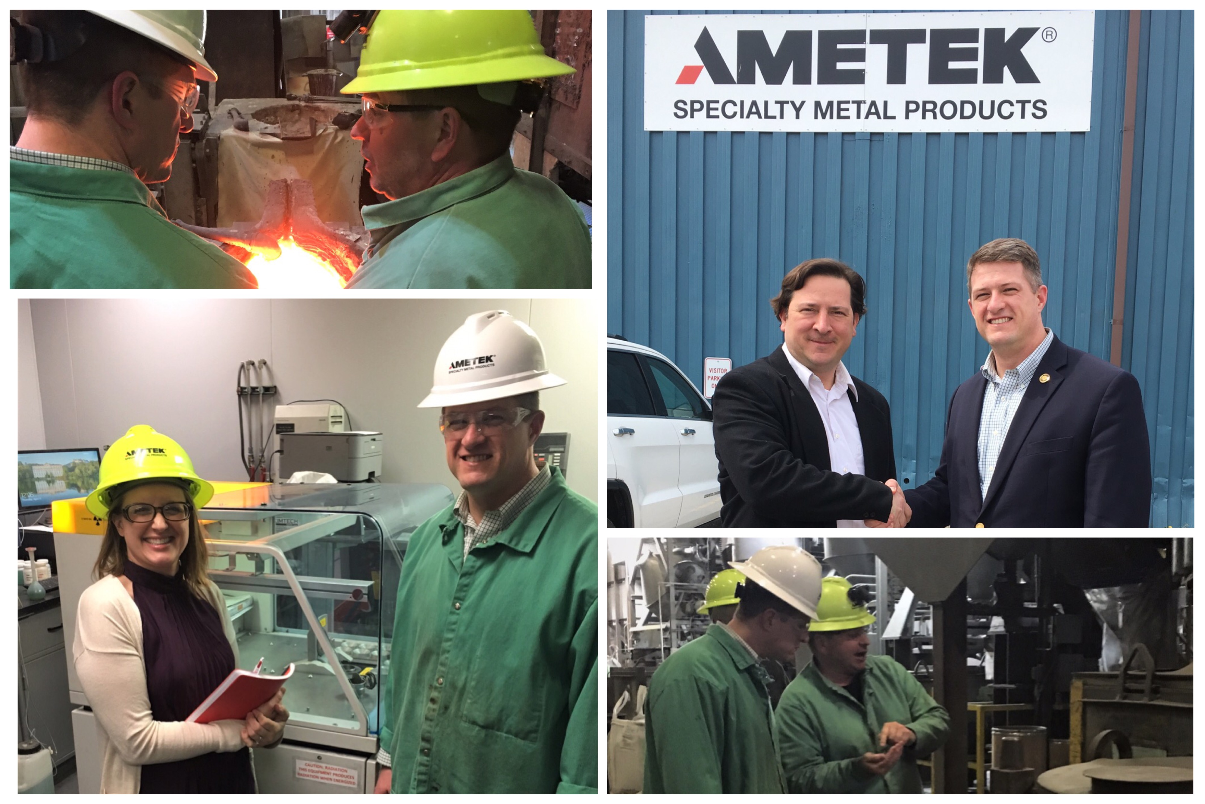 Tim O'Neal - Pennsylvania State Representative visits AMETEK Eighty Four