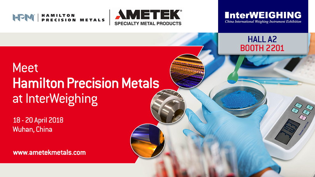 Hamilton Precision Metals at InterWeighing