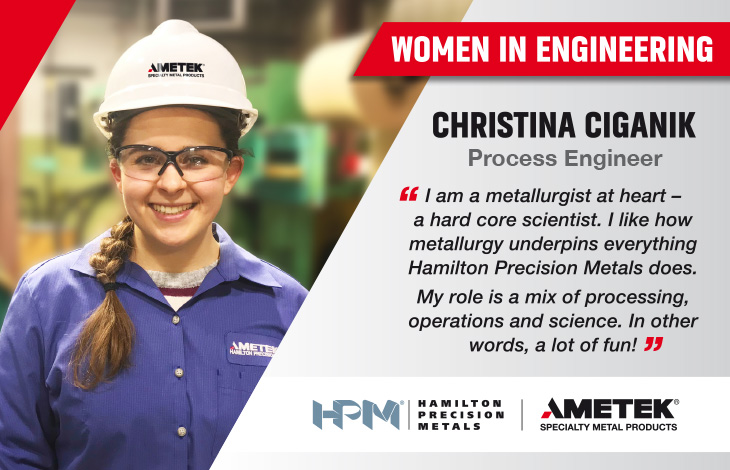 Women in Engineering - Christina Ciganik